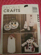 "McCall 2333 CHRISTMAS CRAFTS 24"" SNOWMAN & PILLOWS SANTA DOOR HANGER PATTERN UC!"