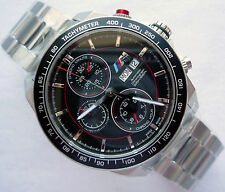 BMW M3 M4 M6 M Power Motorsport Racing Style Sport Automatic Chronograph Watch