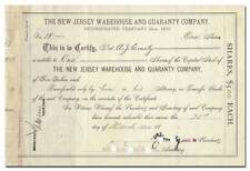 New Jersey Warehouse and Guaranty Company Stock Certificate