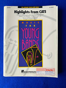 Noten Blasorchester Concert Band  HIGHLIGHTS FROM CATS Johnnie Vinson H.Leonard