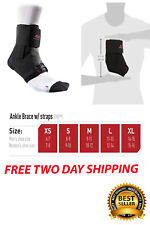 Mcdavid Deluxe Ankle Brace Strap Black 195 Medium Sports Fitness Support W Large