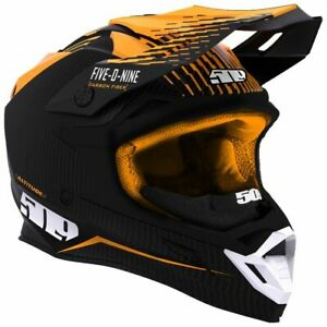 509™ Altitude Carbon Fiber Orange Snowmobile Helmet w/ Fidlock F01000500-XXX-401
