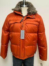 Andrew Marc Orange Puffer Winter Jacket Goose Down Men's Size L