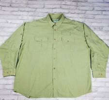 Orvis Buzz Off Insect Shield Long Sleeve Button Front Shirt Mens Size XXL Green