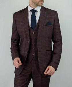 Cavani Carly Tweed Three Piece Suit In Wine Size 40R, 42R, 44R & 48R RRP £199.99