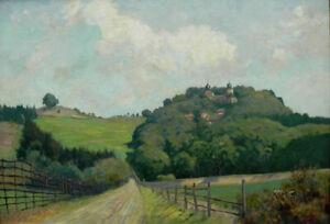 Julius Hellner, Ölgemälde: Sababurg im Reinhardswald, Burg, Schloss