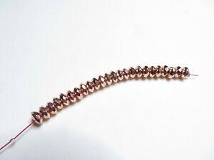 Perle Hämatit Rondell Reifen galvanisiert rose gold 6 mm 24 Stk facettiert