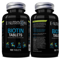 BIOTIN 10,000mcg HIGH STRENGTH TABLETS | VEGAN | HEALTHY HAIR NAILS SKIN GROWTH