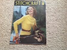 STITCHCRAFT Ladies Vintage Knitting Magazine October 1952