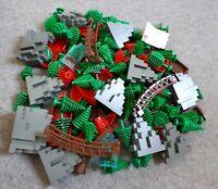 15 Lego Teile Bäume Felsen Berge Steine Büsche Tannen Boote System Piraten