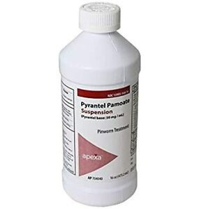 Pyrantel Pamoate Suspension, 50mg / mL, 16 ounce - Exp. 06/29/22