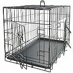 **NEW** SALE** Pet Kennel Cat Dog Folding Steel Crate w/removable plastic tray