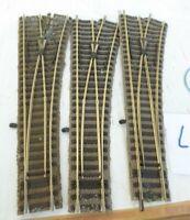 Fleischmann 6171 W und  1 x 6140 H0 3 x Weichen rechts, gebraucht erhalten