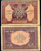 FRENCH INDO CHINA 20 CENTS P 90 XF