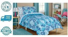 New Twin Kids Butterfly Bed in a Bag Bedding Sheet Pillowcase Sham Comforter Set