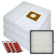 15 Bags + H13 HEPA Filter for Nilfisk King GM516 GM540 GM580 Vacuum + Fresheners