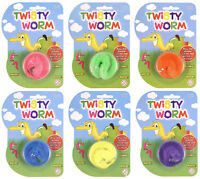 2x Twisty Magic Worms - Pinata Toy Loot/Party Bag Fillers Kids Stocking Trick