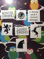 Game Of Thrones Wine Glass Vinyl Decals