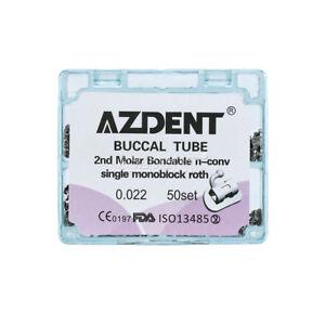Orthodontic Dental Inblock 2nd Molar Non-Convertible MIM Buccal Tube Roth 0.022
