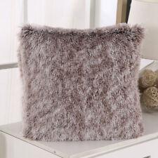 "UK Luxury Fluffy Soft Cushion Cover Throw Pillow Case Sofa Home Decor Plush 17"""