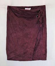 Supre Brand Wine Suedette Elastic Waist Side Tie Wrap Skirt Size M BNWT #TQ90