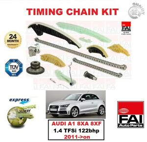 FAI 13pc TIMING CHAIN KIT for AUDI A1 Sportback 8XA 8XF 1.4 TFSi 122bhp 2011->on