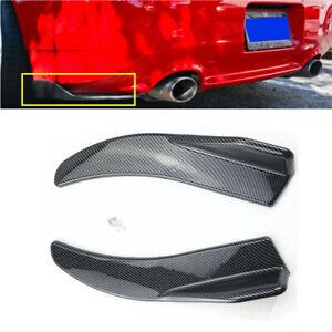 2PCS Carbon Style Rear Bumper Splitters Diffuser Winglet Wind Auto Accessories
