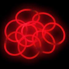 """300 10"""" Glowsticks Glow Bracelets RED Light Sticks"""