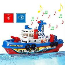 Electric Fire Boat Baby Kids Children LED Flashing Light Music Bath Toy Gift