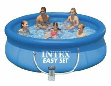 """New listing Intex 8' x 30"""" Easy Set Round Inflatable Above Ground Pool w/ Filter Pump"""