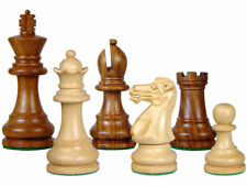 "Monarch Staunton Wood Chess Set Pieces 3"" Weighted + 2 Extra Queens"