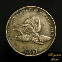 1857 Flying Eagle Cent 1c Penny, Free Shipping! 040821-*14E