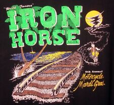 IRON HORSE SALOON pocket tee 1993 Motorcycle Mardi Gras bike T shirt 3XL Florida