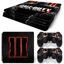 Black Ops 3 III PS4 Slim Console Controller Skin Sticker Brand NEW *AU STOCK*