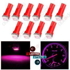 10pcs Bright Pink Car T5 5050 1SMD Wedge LED Light Bulbs 74 17 18 37 70 73 2721