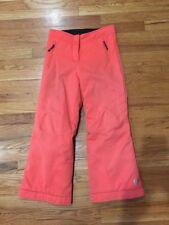 Obermeyer Juniors 10  girls Ski Snow Pants Grow With Me Extenze Length Orange