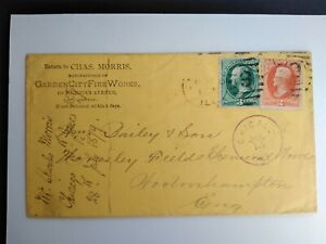 Illinois: Chicago 1879 #158, #183 Morris Fireworks Advertising Cover to England