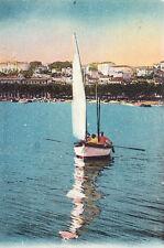 CANNES 8 un bateau de pêche voilier timbrée 1929
