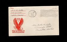 WWII Patriotic Military UN Eagle On To Victory Topeka KS 1945 Cover 9p