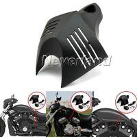 Black V-shield Horn Cover Set Fit For Harley Davidson Softail Dyna Street Glide