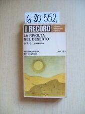T. E. LAWRENCE - LA RIVOLTA NEL DESERTO - MONDADORI - 1966