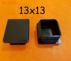 4 St. Kunststoff Lamellenstopfen 13x13mm Schwarz