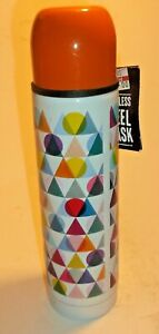 PAPERCHASE MULTICOLOURED FLASK WITH CUP- 500 ML CAPACITY - NEW WITH TAGS.