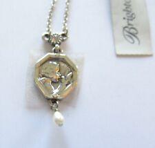 Brighton Devotional Peace Necklace -silver color -cherub dove peace-petite