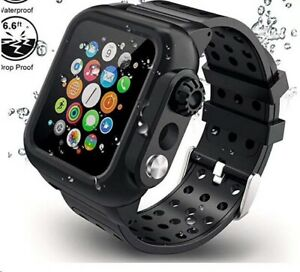 Waterproof Case with Band Strap For Apple Watch iWatch Series 6 5 4 3 2 1 SE