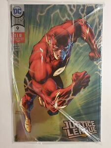 JUSTICE LEAGUE #9 (NM) SILVER FOIL COVER; POLY-BAGGED EDITION; FLASH COVER