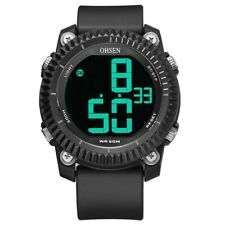 OHSEN 1710 Digital Watches Stopwatch Alarm Military Sport Swimming Men LED Watch