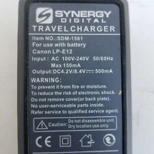 Synergy Digital SDM-1561 Travel Charger For Use With Battery  Canon LP-E12