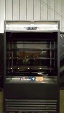 True Tac-48 Black Vertical Air Curtain Refrigerated Merchandiser