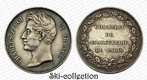 Jeton Commerce de Charcuterie de Paris. Charles X°. Argent. France, vers 1825